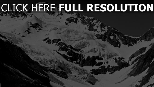 hd hintergrundbilder berge schnee felsen winter schlucht