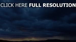 himmel wolken blitz berge sonnenuntergang