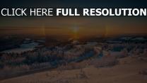 berge schnee landschaft höhe winter