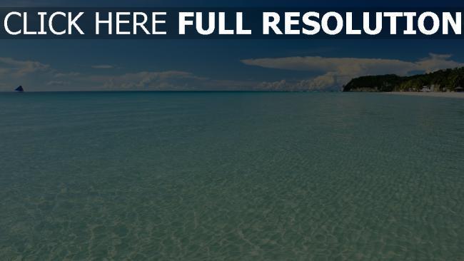hd hintergrundbilder meer wasser blau horizont sommer
