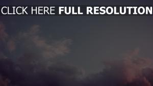 wolken rosa lila himmel