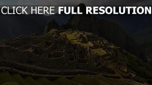 ruinen gebäude stadt berg höhe