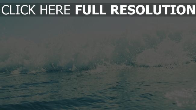 hd hintergrundbilder meer wellen schaum wasser blau