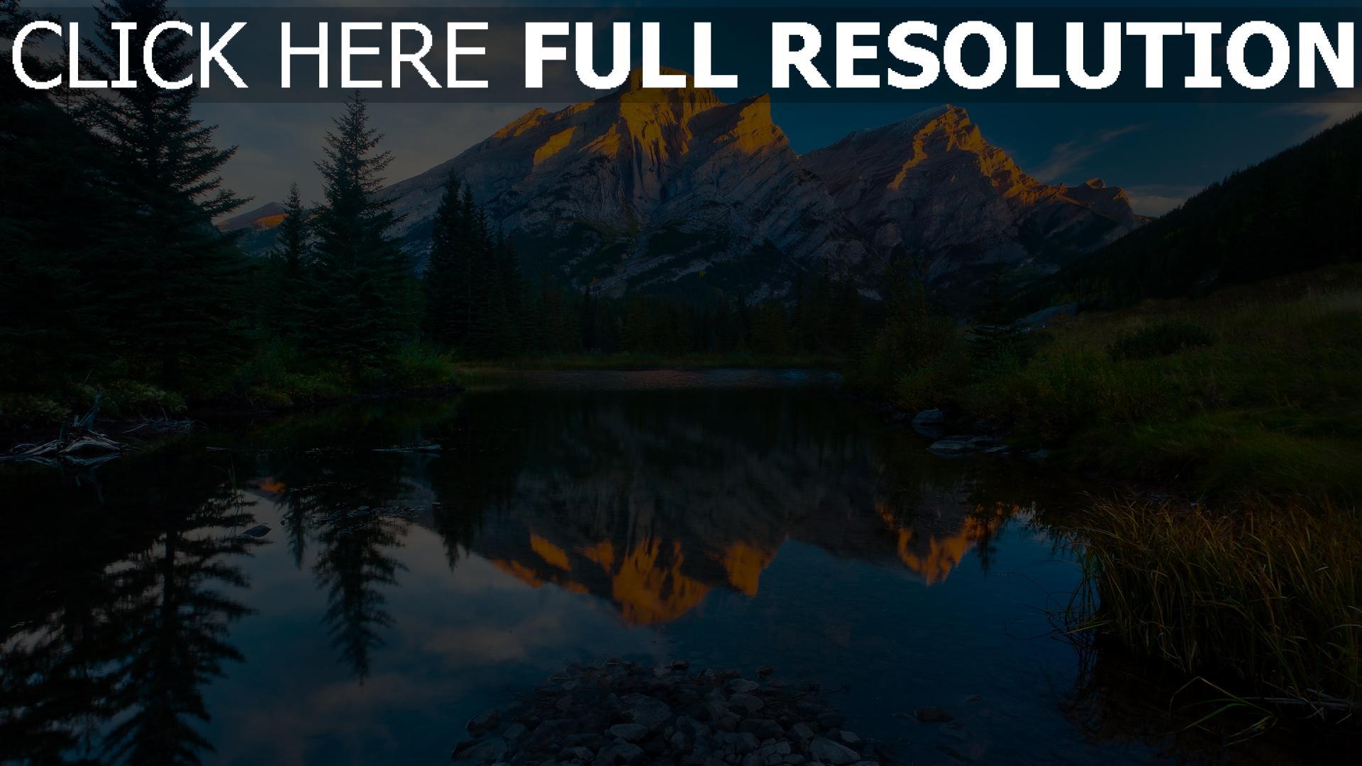 hd hintergrundbilder berge see essen wasser reflexion 1920x1080