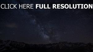 gebirge nachthimmel sterne milchstraße