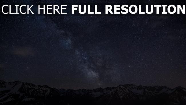 hd hintergrundbilder gebirge nachthimmel sterne milchstraße