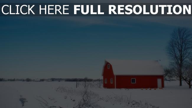 hd hintergrundbilder scheune feld schnee winter himmel