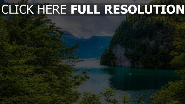 hd hintergrundbilder see bäume berge alpen deutschland