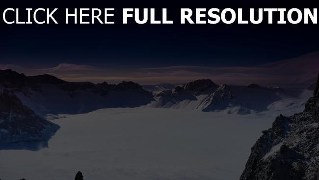 hd hintergrundbilder winter schnee berge china himmel