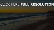 strand wellen meer strand sonnenuntergang england