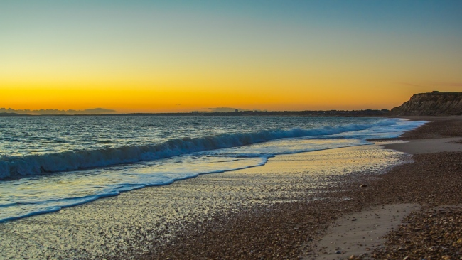 hd hintergrundbilder strand wellen meer strand sonnenuntergang england