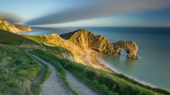 hd hintergrundbilder meer bucht felsen bogen strand england