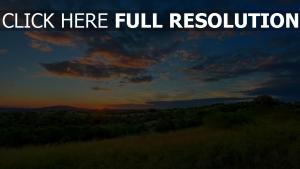 hügel tal himmel wolken sonnenuntergang sonne horizont