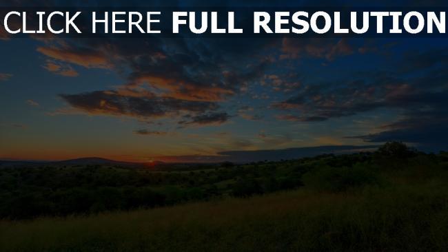 hd hintergrundbilder hügel tal himmel wolken sonnenuntergang sonne horizont