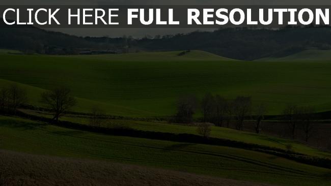 hd hintergrundbilder hügel bäume gras frankreich