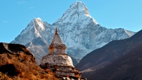 berg gebäude tempel himalaya