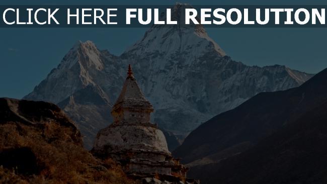 hd hintergrundbilder berg gebäude tempel himalaya