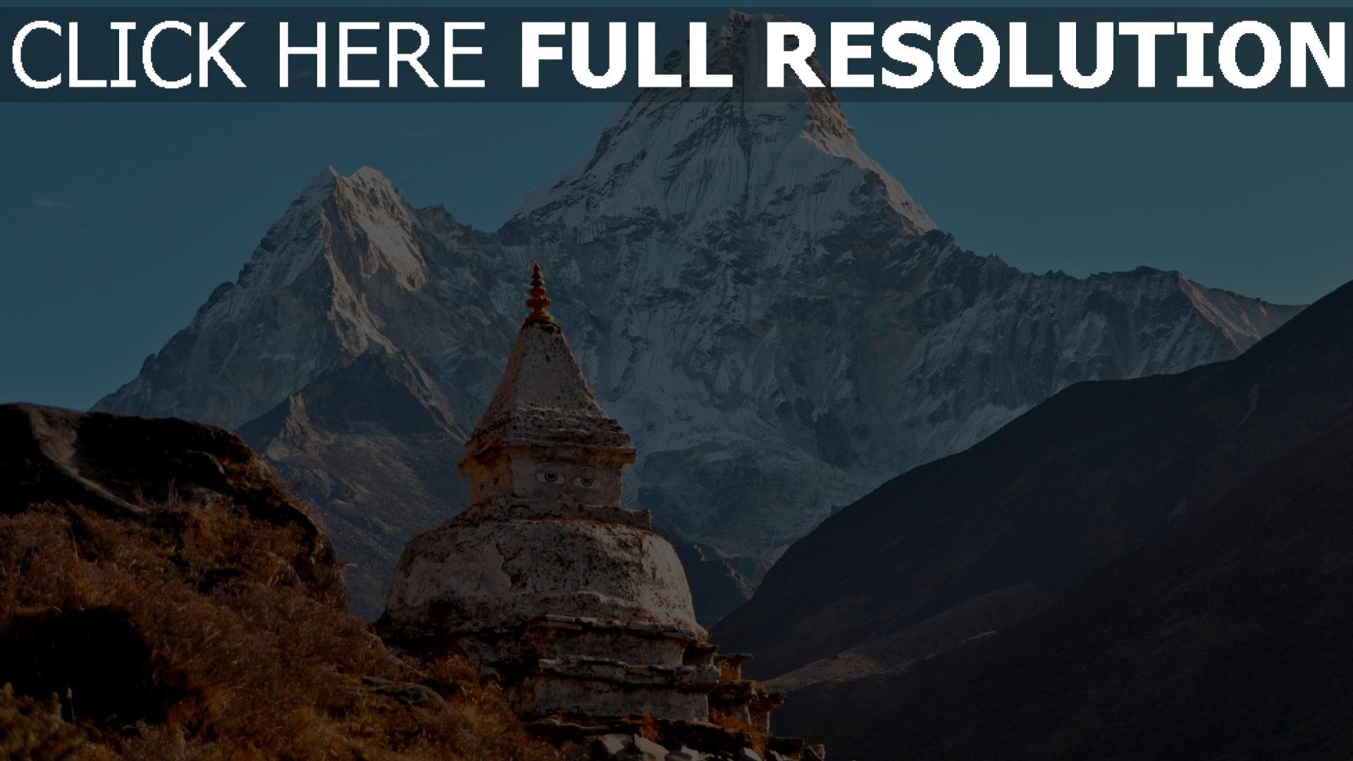 hd hintergrundbilder berg gebäude tempel himalaya 1920x1080