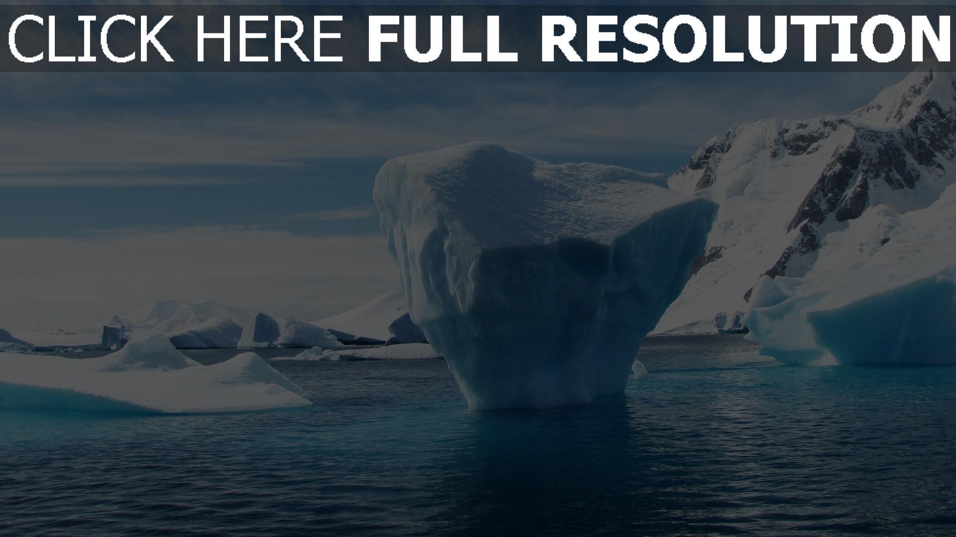 hd hintergrundbilder eis winter eisberg antarktis 1920x1080