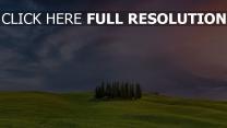 himmel bäume gras wolken italien