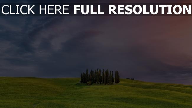 hd hintergrundbilder himmel bäume gras wolken italien