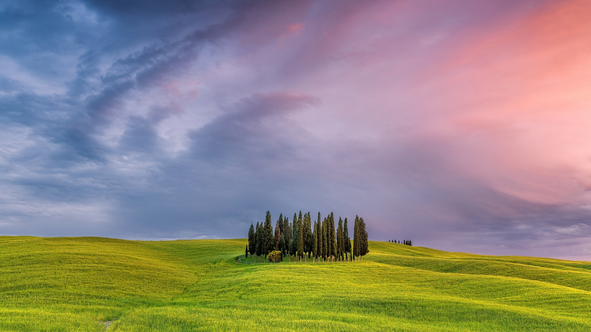 hd hintergrundbilder himmel bäume gras wolken italien 1920x1080
