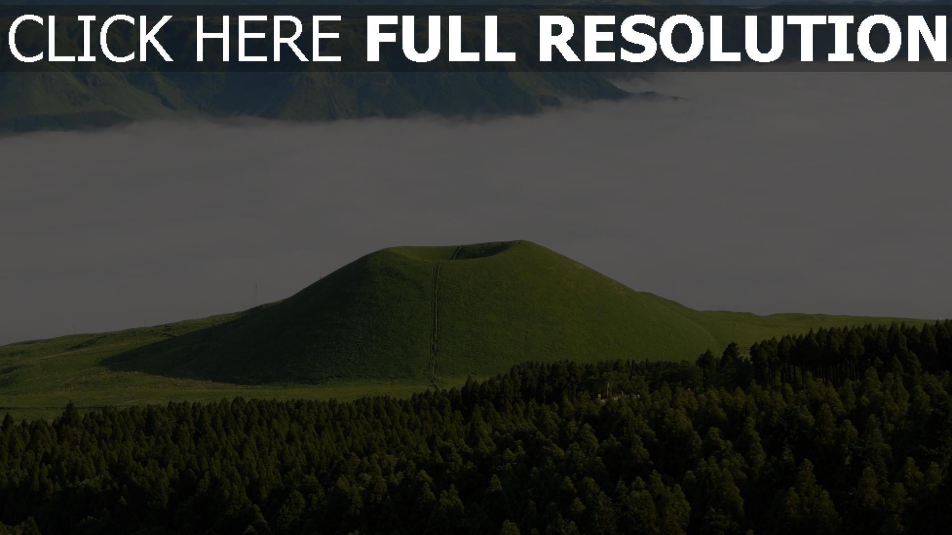 hd hintergrundbilder wald tal nebel japan 1920x1080