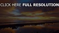 meer himmel sonnenuntergang licht wasser küste reflexion