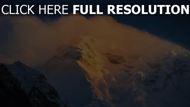 hd hintergrundbilder schnee berge nebel felsen wind