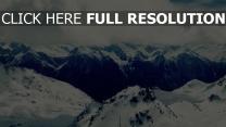 felsen gebirge schnee wolken hoch