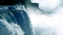 wasserfall wasser fließt felsen nebel