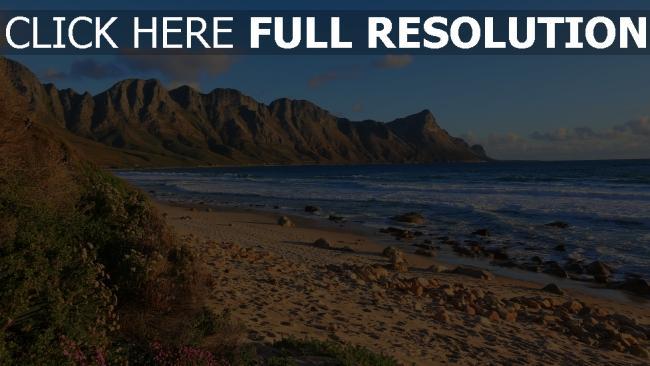hd hintergrundbilder felsen bergrücken bucht strand steine gras