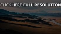 landschaft hügel wiesen entfernung horizont