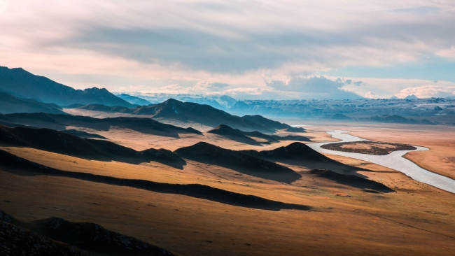 hd hintergrundbilder landschaft hügel wiesen entfernung horizont