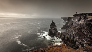 horizont felsen meer wellen riffe grauen wolken
