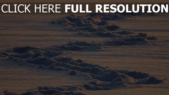 hd hintergrundbilder schnee winter tracks kalt