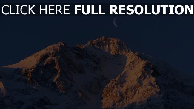 hd hintergrundbilder mond himmel berge schnee felsen