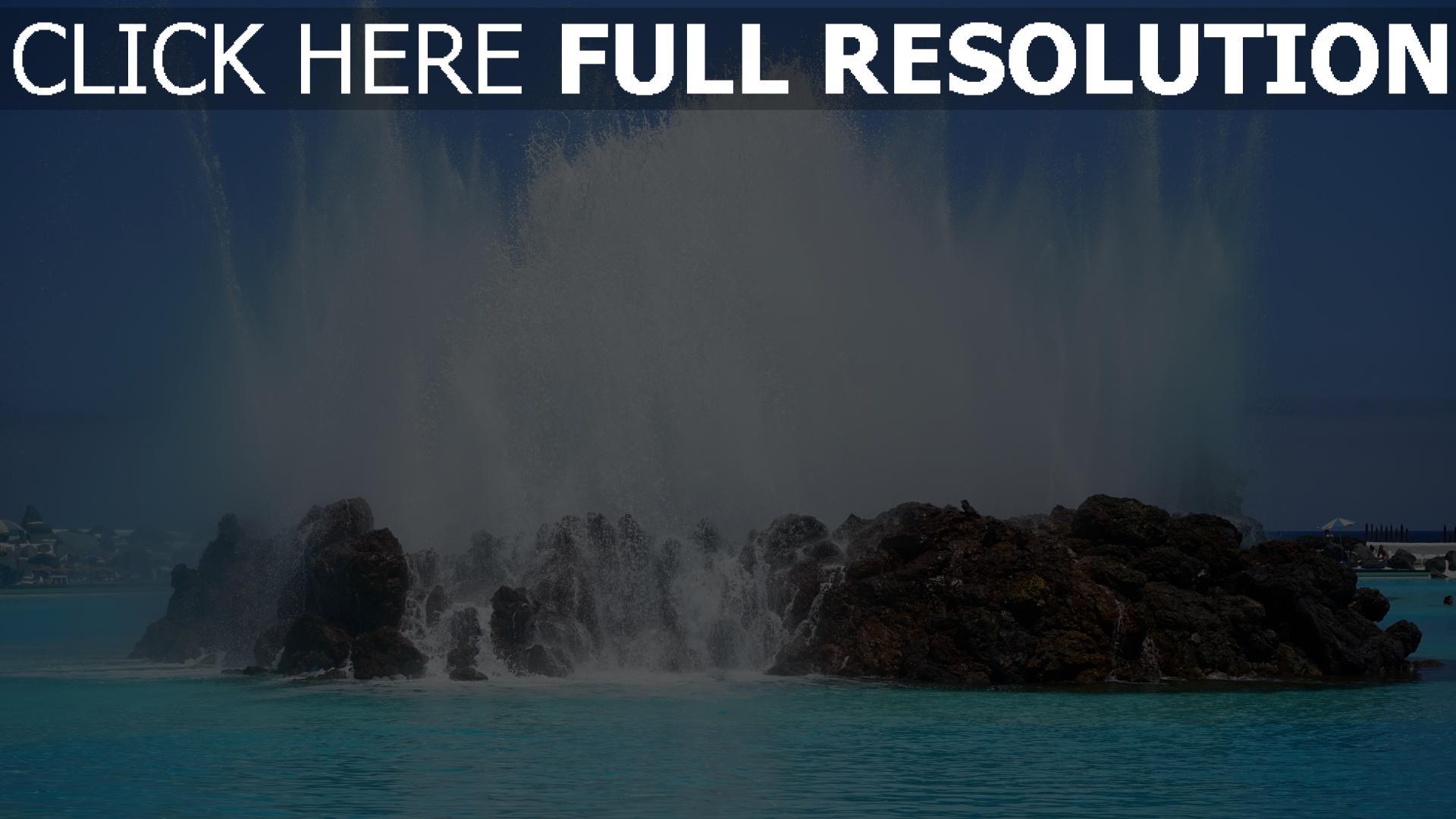 Herunterladen 1920x1080 Full Hd Hintergrundbilder Steine Wasser