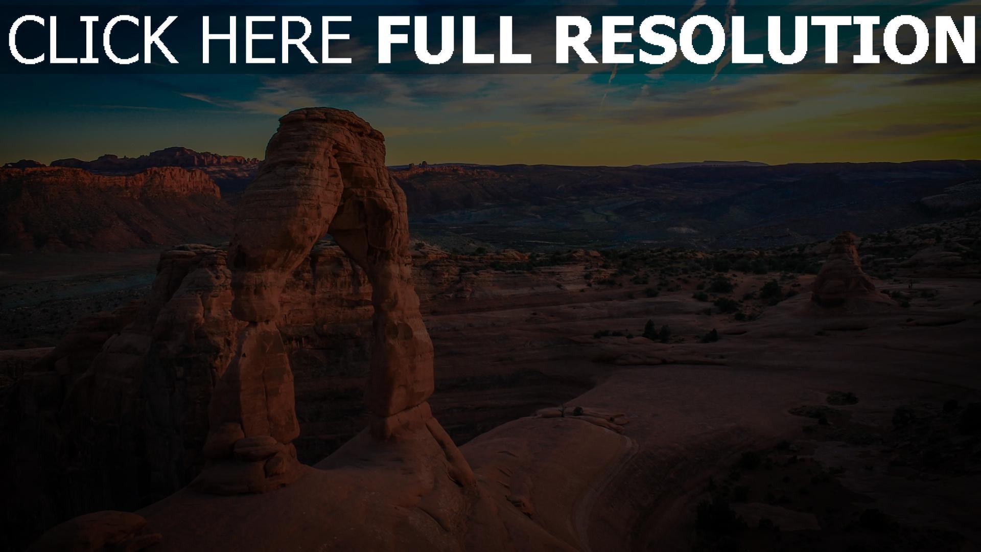hd hintergrundbilder felsen steine bogen himmel berge 1920x1080