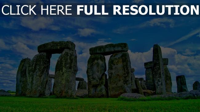 hd hintergrundbilder steine gras himmel schottland stonehenge