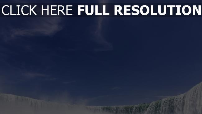 hd hintergrundbilder wasserfall himmel blau spray