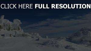 berge schnee eis himmel wolken winter