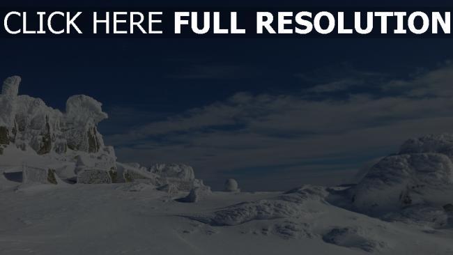 hd hintergrundbilder berge schnee eis himmel wolken winter