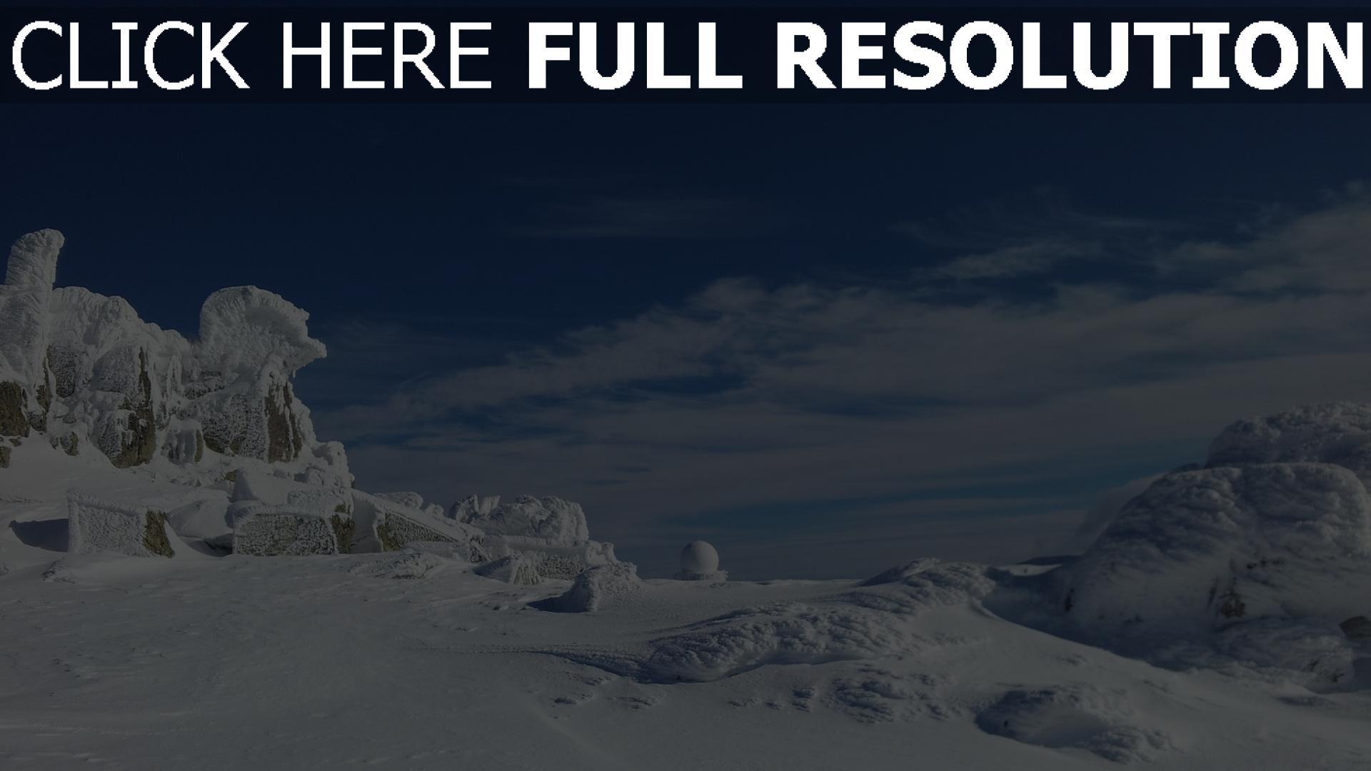 hd hintergrundbilder berge schnee eis himmel wolken winter 1920x1080