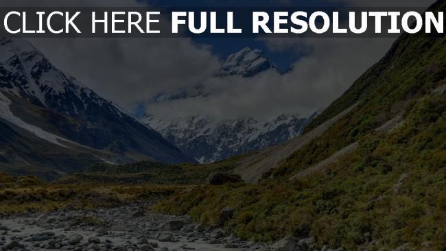 hd hintergrundbilder berge winter schlucht aoraki neuseeland