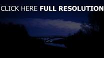 sterne nacht brücke wolken
