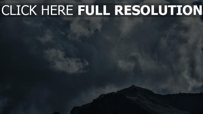 hd hintergrundbilder himmel berge wolken
