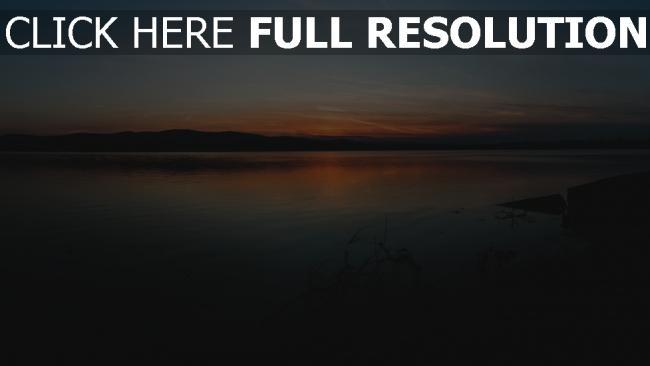 hd hintergrundbilder horizont äste sonnenuntergang küste