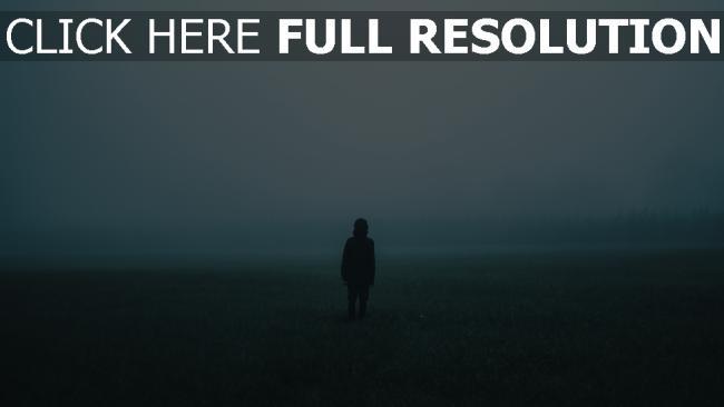 hd hintergrundbilder einsamkeit feld nebel mann