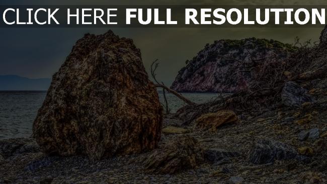 hd hintergrundbilder hdr felsen kiesel strand